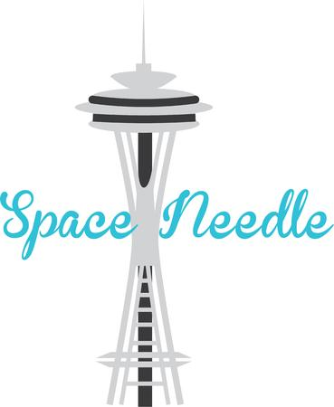 Display your love for the city of Seattle with the space needle.