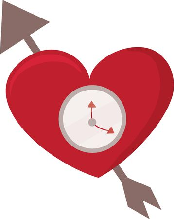 timepiece: A sweet love heart for your valentine.