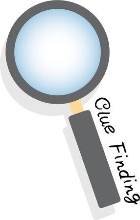 Wees een detective met een vergrootglas. Stock Illustratie