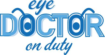 eye doctor: An eye doctor will like a t-shirt with logo.
