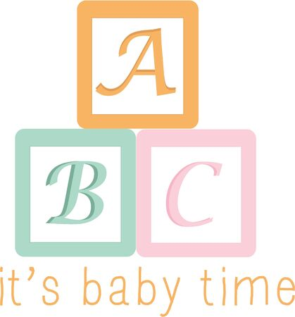 alphabet blocks: A nursery will look special with colorful alphabet blocks.