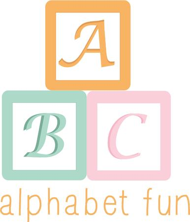 A nursery will look special with colorful alphabet blocks.