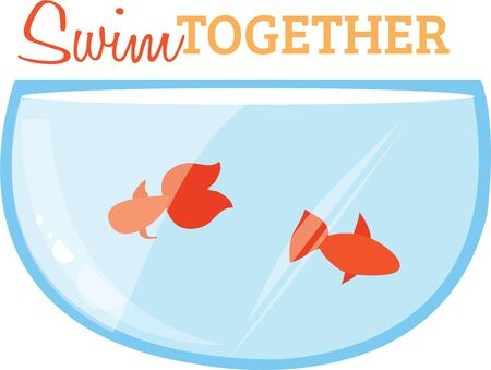Goldfish are a great design for a pet project. Illustration