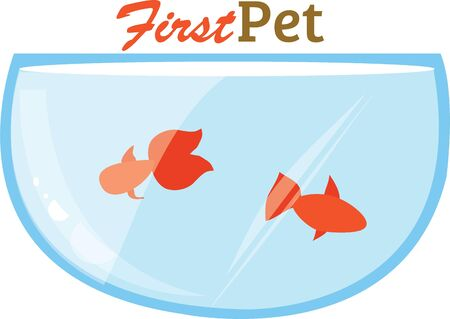 oranda: Goldfish are a great design for a pet project. Illustration