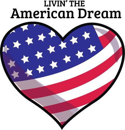 gran: Show your patriotic heart with this heart shape flag design from Ann the Gran!