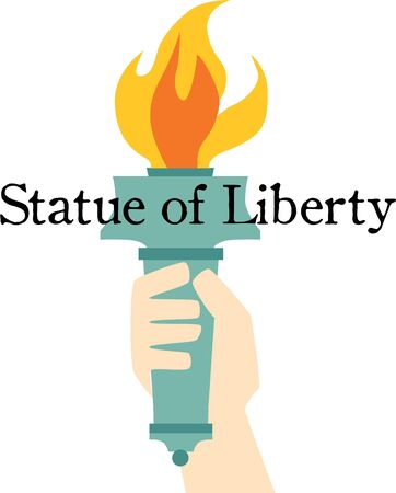 liberty torch: Be patriotic with the statue of liberty torch on a t-shirt.