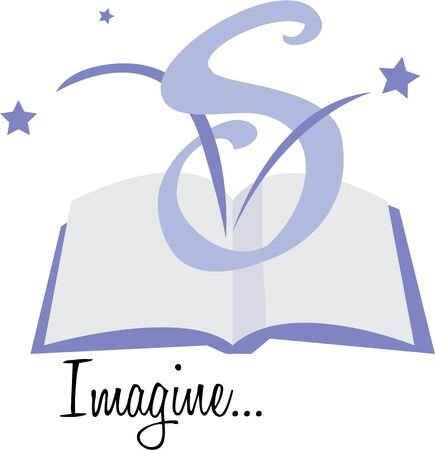 periodical: Let your imagination soar in a book.  This design will make a wonderful book cove.