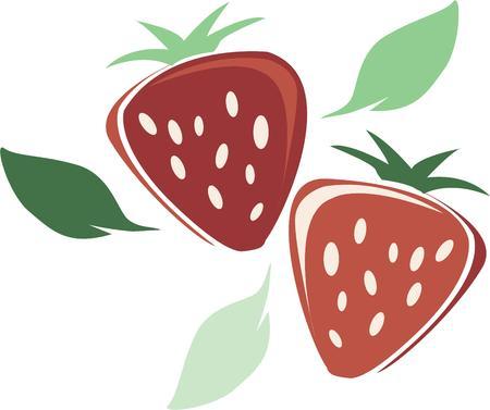 아름다운 딸기는 부엌에 좋은 액센트입니다.