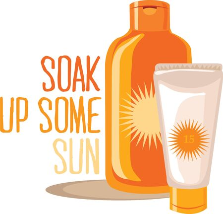 suntan lotion: Take this suntan lotion with you for a day on the beach.