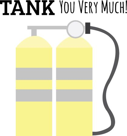 Divers will like these air tanks on a swim suit.