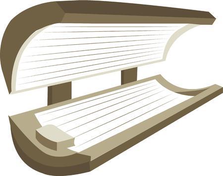 Zeigen Sie Ihre große tan mit diesem Sonnenbank. Standard-Bild - 44804456