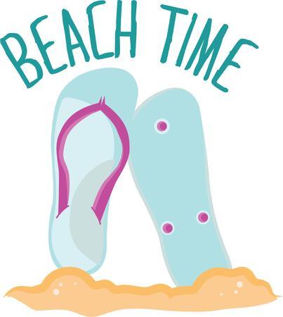 Flip flops will look great on a beach towel. Иллюстрация