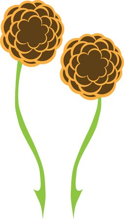 long stem: Beautiful flowers are a wonderful accent to any project. Illustration
