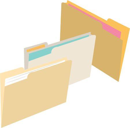 Organiseer uw kantoor met bestandsmappen.