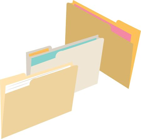 file folders: Organize your office with file folders.