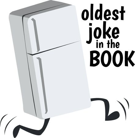 This funny fridge is a cute design for a kitchen towel.