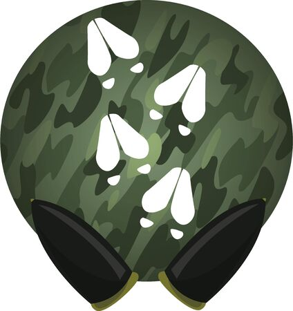 hunters: Deer tracks will look good on a hunters hat. Illustration