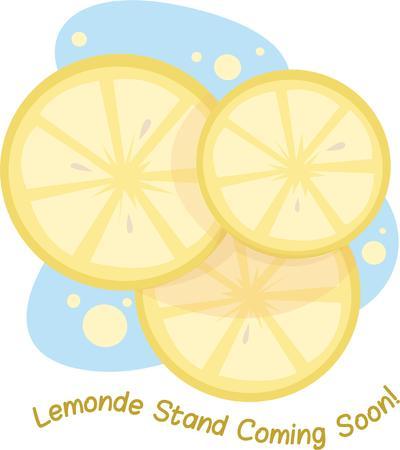 Maken heerlijke limonade voor een zomerse traktatie. Stock Illustratie