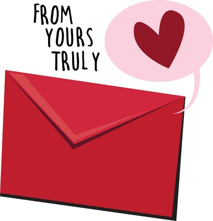 hart: Send a love letter to your valentine. Illustration