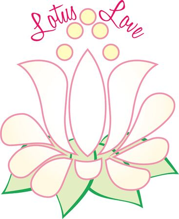A beautiful lotus is a great decoration. Illustration