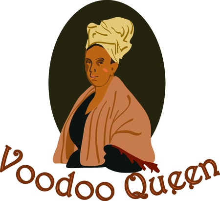 bust: Share your knowledge of voodoo history with this bust of Mambo Marie Laveau.