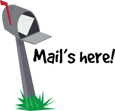 Every home needs a mailbox. Illustration