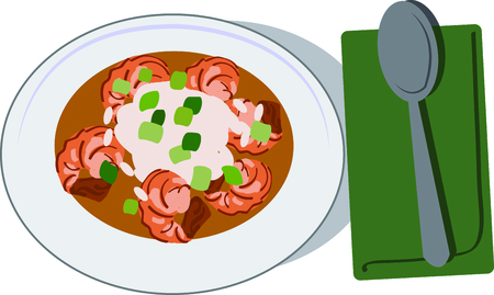 Use this gumbo for a cajun food lover. Stok Fotoğraf - 44860876