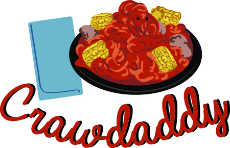 Use this plate of crawdaddies for a cajun food lover.