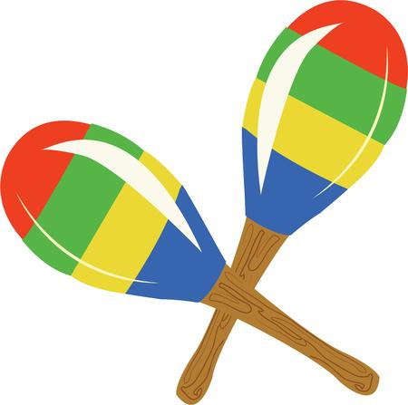 Have a great fiesta with maracas.