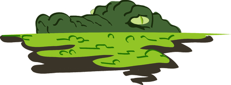 This gator will look great peeking out of a pocket.  イラスト・ベクター素材