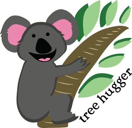A koala is a cuddly animal for a t-shirt.