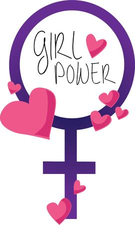 Show off your girl power with this symbol.