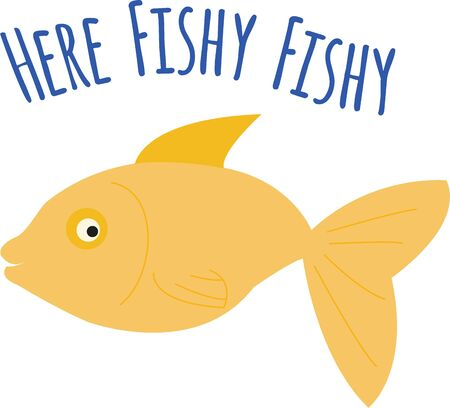 fantail: A cute fish will look great on any project. Illustration