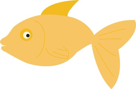 A cute fish will look great on any project. Illustration
