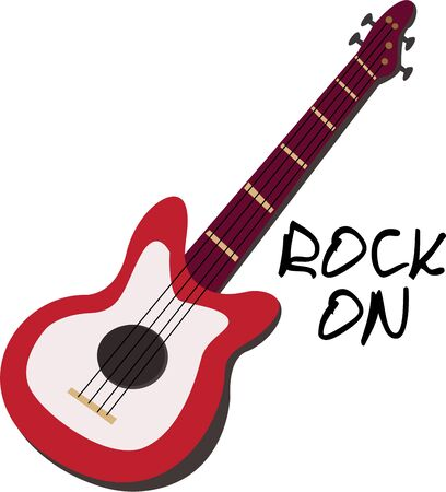 Be a rock star with a cool guitar.