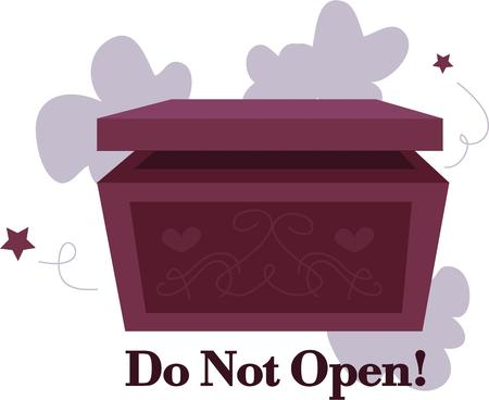 Make a wish and open a magic box. Illustration
