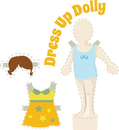 Little girls like to play with dolls. Banco de Imagens - 44861391
