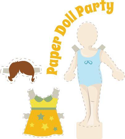 Kleine Mädchen gerne mit Puppen zu spielen. Standard-Bild - 44861393