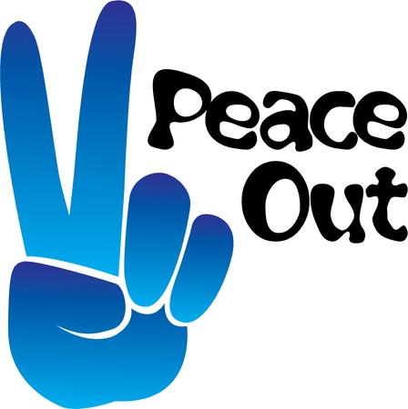 hippy: Display the peace sign like an old hippy.