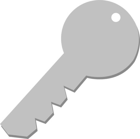 latchkey: Have a key handy for access to everything. Illustration