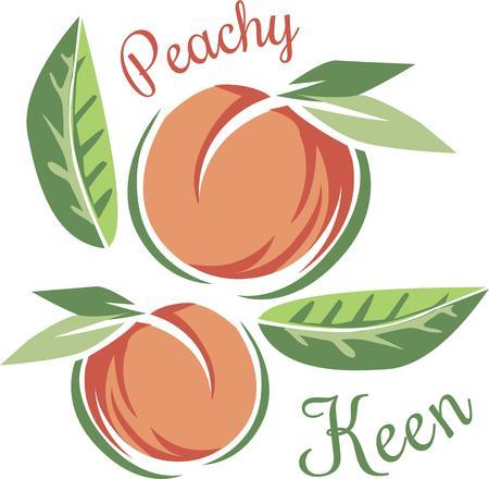 あなたの台所装飾においしい桃を追加します。  イラスト・ベクター素材