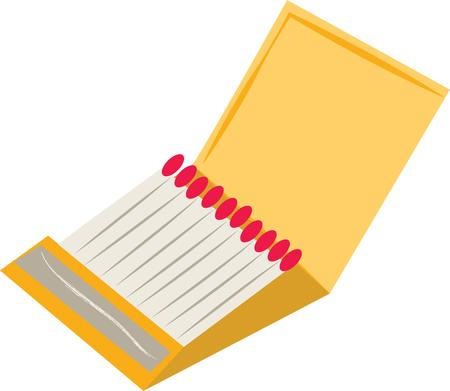 Have a light handy with these matches. Ilustracja