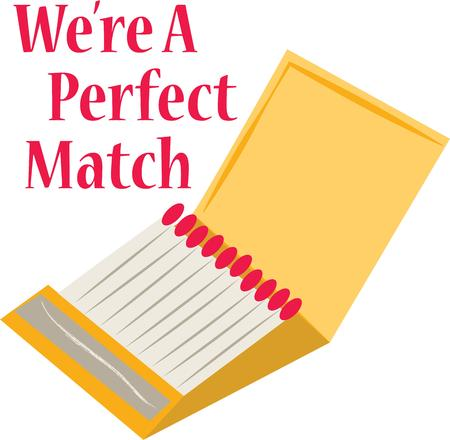 handy: Have a light handy with these matches. Illustration