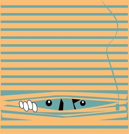 Mostra il senso dell'umorismo con un nascosto e cercare di design. Archivio Fotografico - 44861685