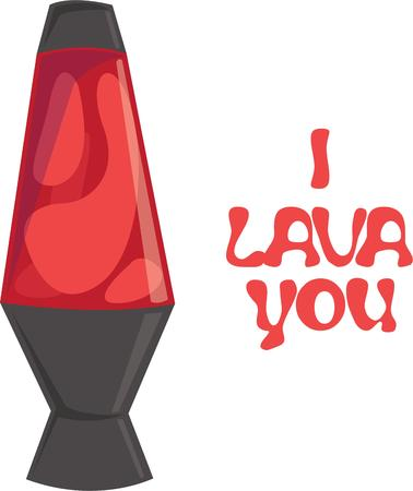 Be a hippy with a lava lamp in your home. Ilustrace