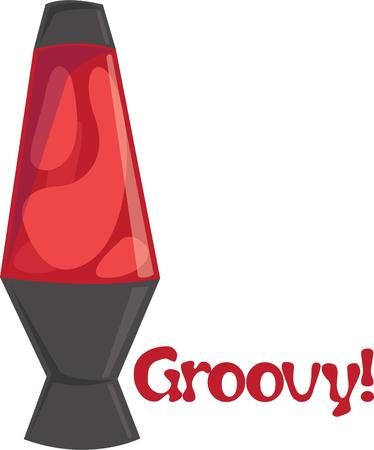 Be a hippy with a lava lamp in your home. Ilustracja