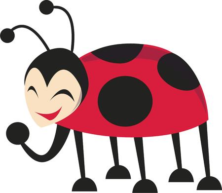 amuse: Every gardener needs a lady bug in their garden.