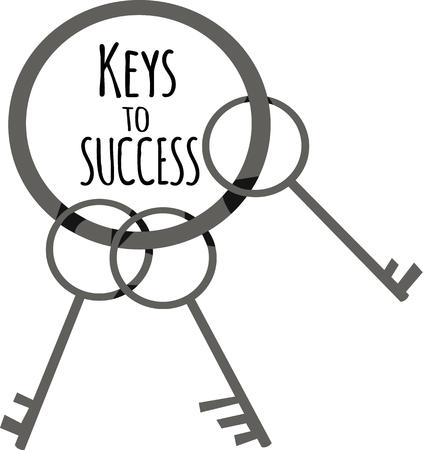 Have a key handy for access to everything. 向量圖像