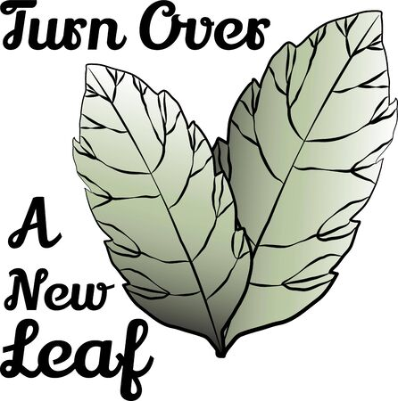 accent: Accent your projects with lovely leaves. Illustration