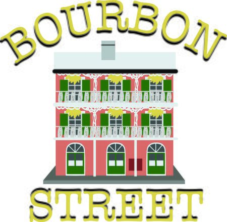 Use this building for a Bourbon Street souvenir project.